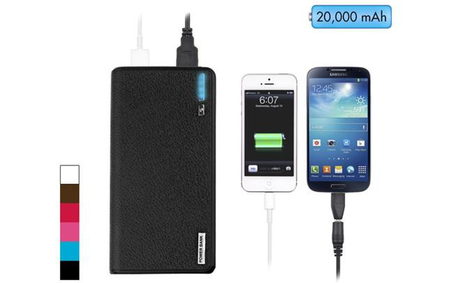 Wallet Style 20000mAh External Power Bank with Dual USB Ports