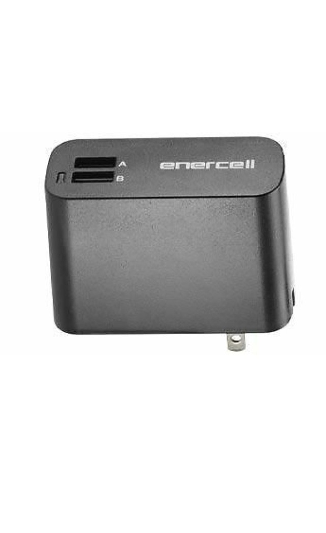 Enercel Dual 2 USB Port Wall Adapter Charger