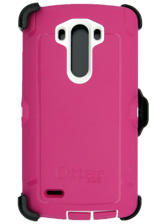 Pink LG G3 Otterbox Defender Case with holster clip