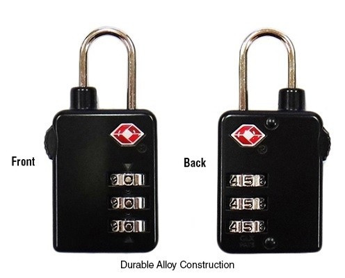 High Security 3 Dial Combination TSA Lock